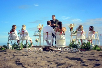 beach wedding setup tenerife
