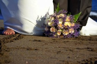 sand wedding on the beach tenerife  canary island