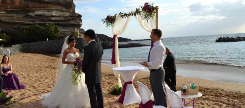Wedding services tenerife