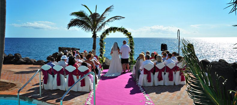 our perfect wedding day in  tenerife