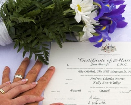 Tenerife marriage documents