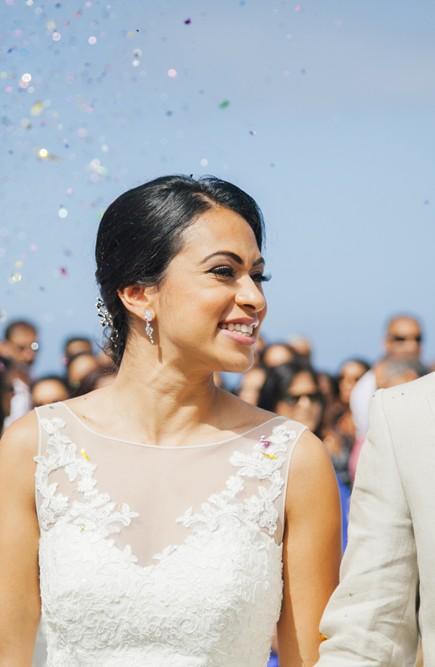 Bride and Groom at Tenerife Wedding