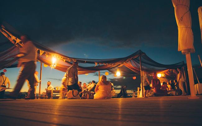 Bondai Beach Club Night Time Wedding Celebration