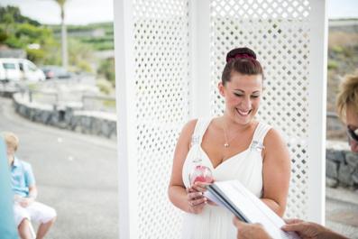 She celebrates her Wedding in Tenerife