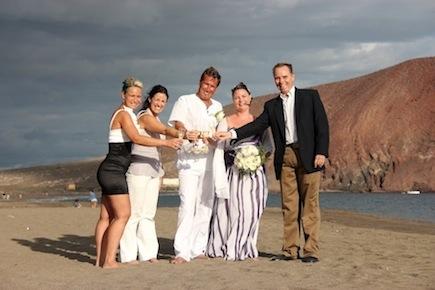english speaking wedding planner tenerife