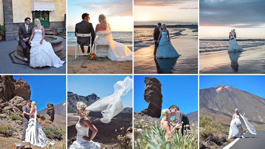 recién casados sesión de fotos islas canarias